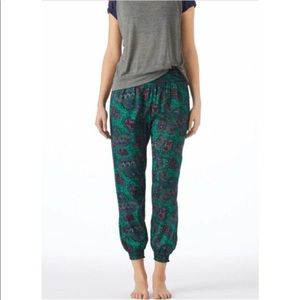NWT AEO Green Floral Joggers